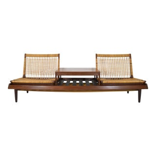 1950s Vintage Modular Bench Model 161 Designed by Hans Olsen for Bramin For Sale