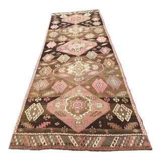 GoRGEOUS Vintage Turkish Runner Rug For Sale