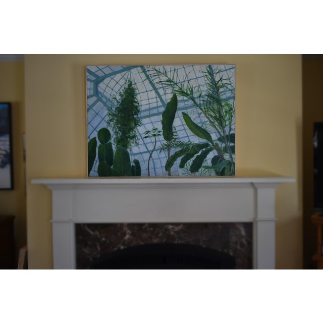 """""""Greenhouse in Winter"""" Contemporary Painting by Stephen Remick For Sale - Image 9 of 11"""