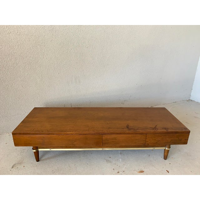 Vintage Mid-Century American of Martinsville Dania Modular Bench & Chest of Drawers For Sale - Image 9 of 12