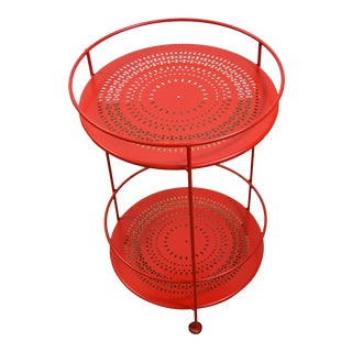 Fermob Red Outdoor Guinguette Table For Sale