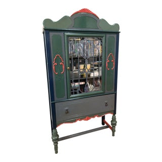 1930s Mediterranean Curio Cabinet For Sale