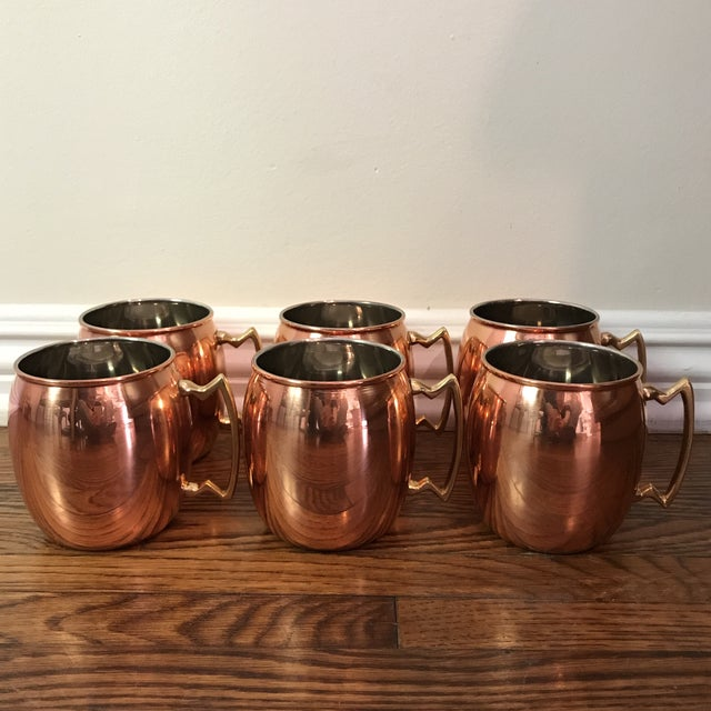 Moscow Mule Copper Mugs - Set of 6 - Image 2 of 6