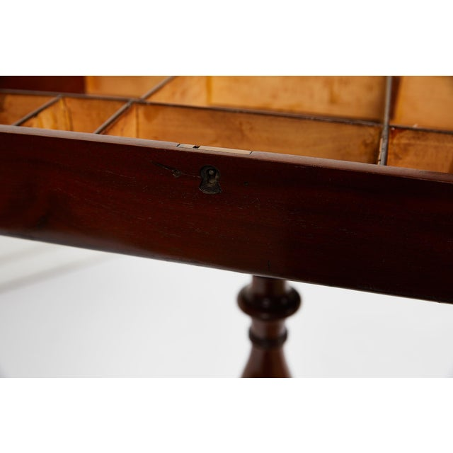 Brown 19th Century Georgian Mahogany Tripod-Base Sewing Table For Sale - Image 8 of 12