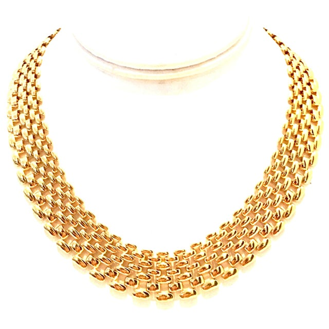 20th Century Gold Plate Link Choker Style Necklace By, Napier For Sale - Image 11 of 11