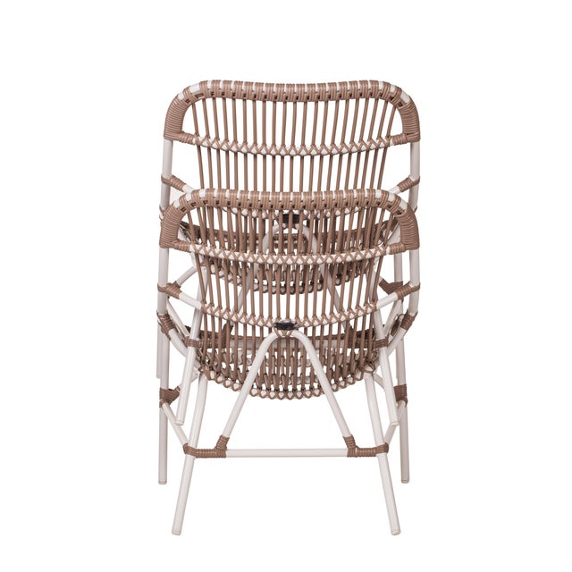 Not Yet Made - Made To Order Coronado Stackable Lounge, Café - White For Sale - Image 5 of 9