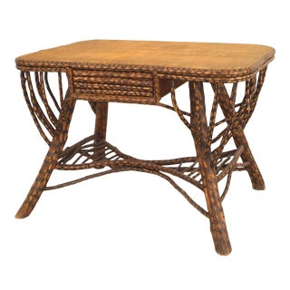 American Rustic Twig Table Desk For Sale