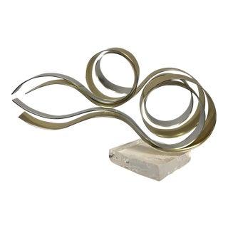 Dan Murphy Brass & Chrome Sculpture