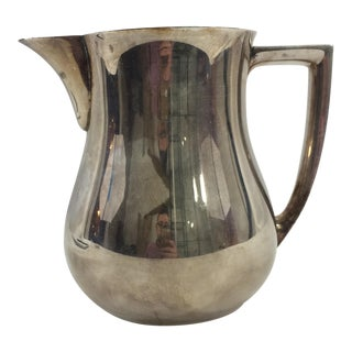 1950's Mid-Century Modern Silver-Plated Water Pitcher