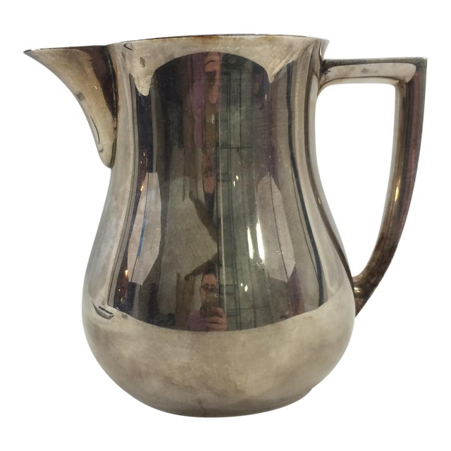 1950's Mid-Century Modern Silver-Plated Water Pitcher For Sale
