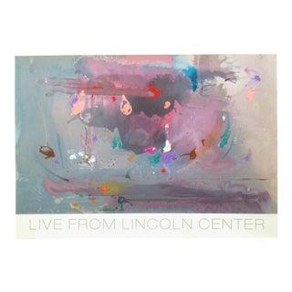 "Helen Frankenthaler Rare Lmtd Edtn Original Hand Pulled Silkscreen Print "" Grey Fireworks "" 1982 For Sale"
