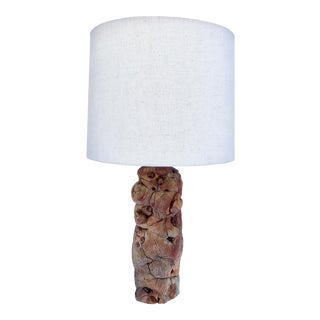 The Burlwood Table Lamp For Sale
