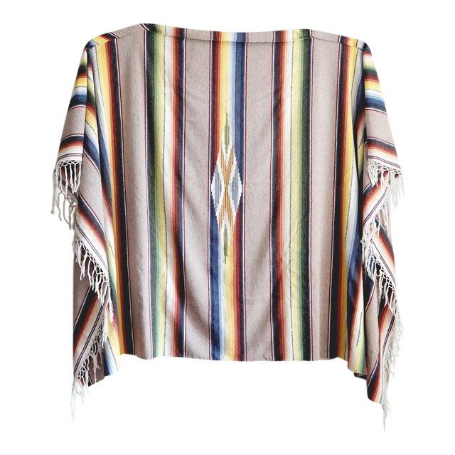 Vintage Mexican Saltillo Blanket - Image 1 of 6