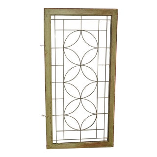 Vintage French Country Leaded Pane Glass Window or Wall Decor For Sale