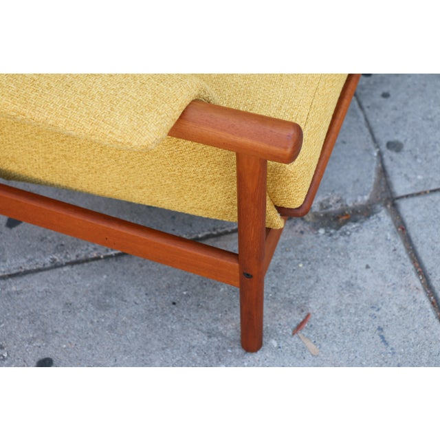 Mid Century Modern Mustard Sofa For Sale In Los Angeles - Image 6 of 11