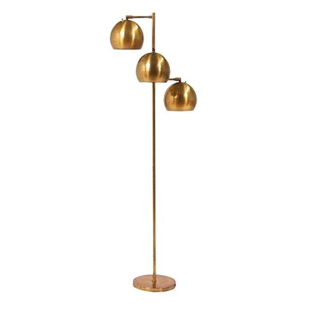 Koch & Lowy Vintage Brass Floor Lamp For Sale