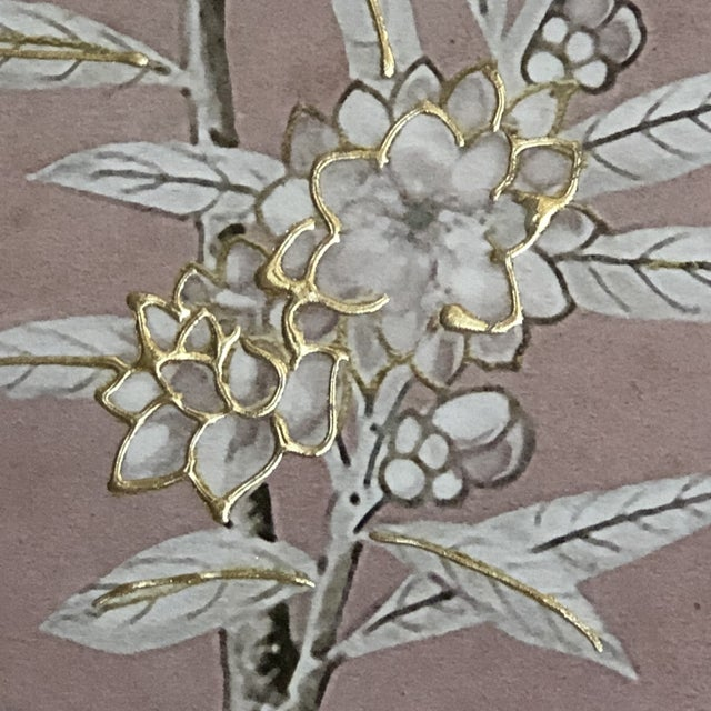 Chinoiserie Art in Blush Print from Kenneth Ludwig Home For Sale In Chicago - Image 6 of 11