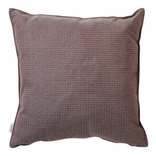 Cane-Line Link Scatter Cushion, Square, Light Bordeaux For Sale