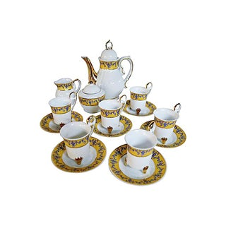 Porcelain Coffee - Set for Six For Sale