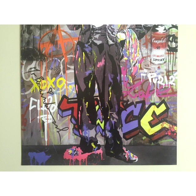 "Mr. Brainwash "" Charlie Chaplin "" Original Lithograph Print Pop Art Poster For Sale - Image 5 of 11"