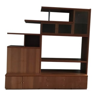 Modern Danish Style Entertainment/Display Unit For Sale