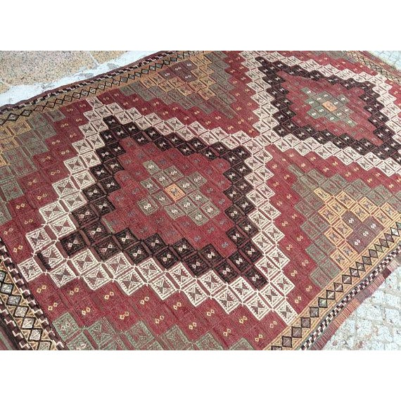 Vintage Turkish Anatolian Rug - 5′6″ × 9′1″ For Sale - Image 4 of 6