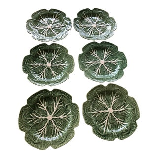 Cabbage Dinner Plates Bordallo Pinheiro Plates - Set of 6 For Sale