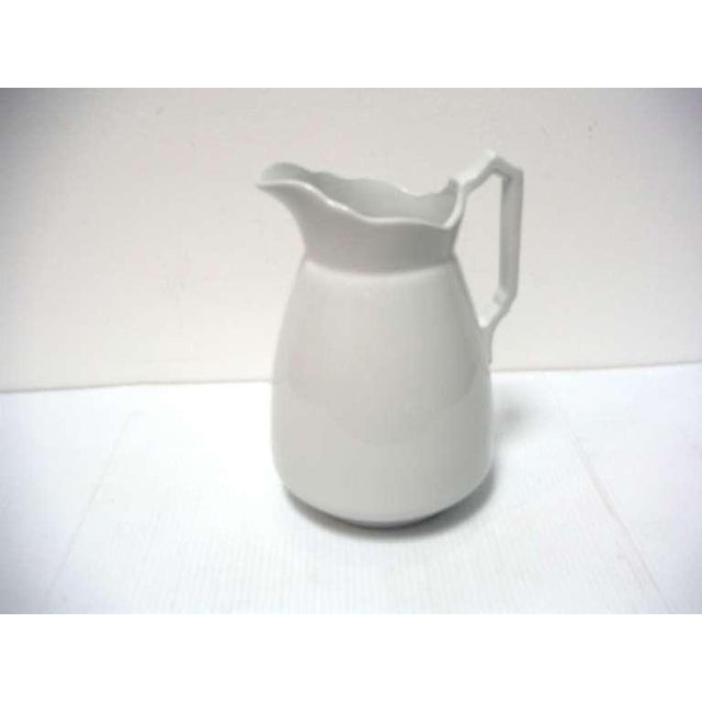 Meakin & Co. Large 19th Century English Ironstone Pitcher For Sale - Image 4 of 6
