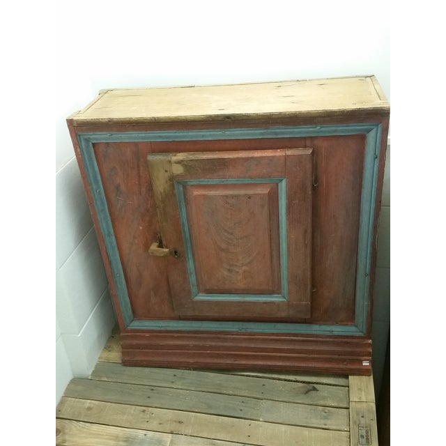 Painted Swedish Antique Cabinet For Sale - Image 9 of 9