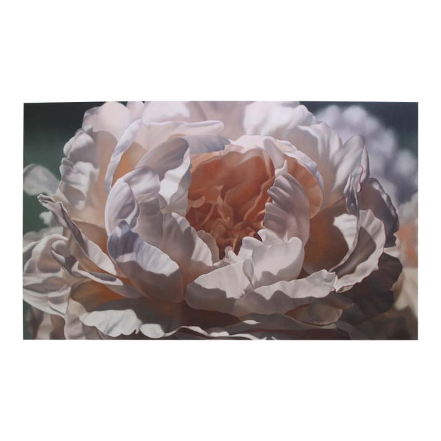 """Vintage Winifred Godfrey Painting """"Pale Peony"""" For Sale"""