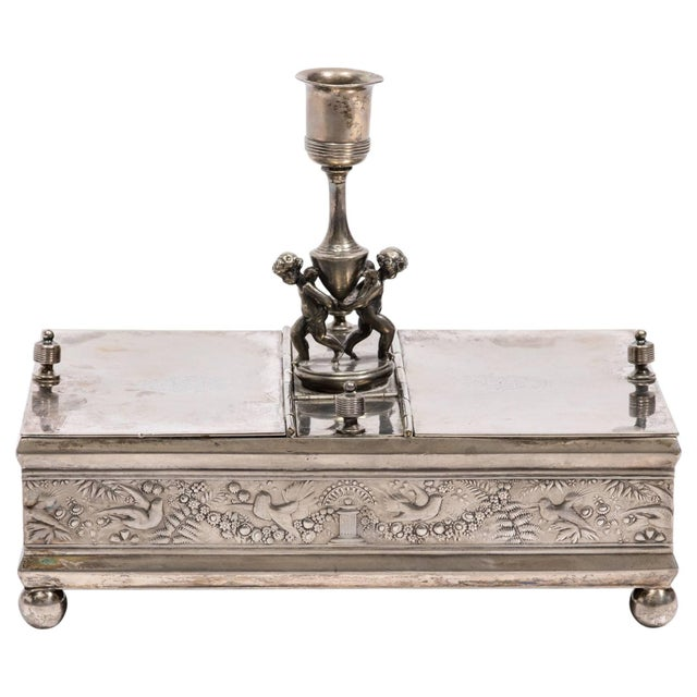 19th Century Silver Plate Letter Box For Sale - Image 10 of 10