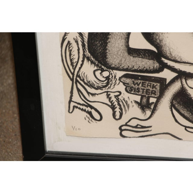 Lithograph Peter Saul Lithograph Numbered 1/10 and Signed For Sale - Image 7 of 8