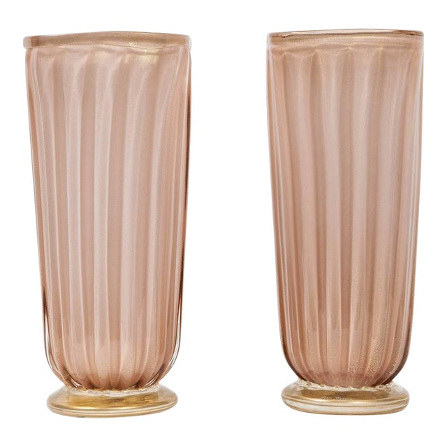Pair of Square Murano Glass Vases - Image 1 of 6