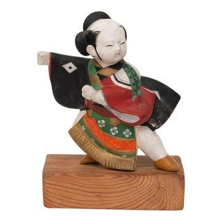 Meiji Era Japanese Samurai Hakata Figurine For Sale
