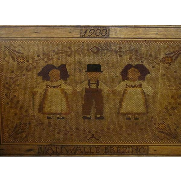 An Alsatian Folk Art Wooden Panel Now Mounted as a Table - Image 2 of 7