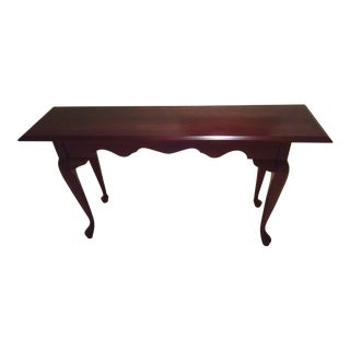 Sale Ending Soon!! Pennsylvania House Solid Cherry Queen Anne Sofa Table