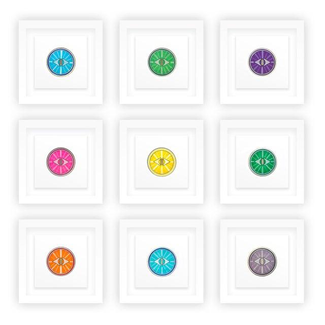 Wood Natasha Mistry Framed Minimalist Geometric Ink Drawings - Set of 9 For Sale - Image 7 of 8