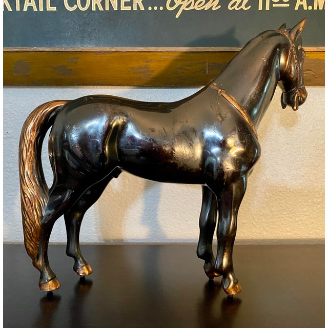 Rustic 1940s Vintage Metal Horse Figurine For Sale - Image 3 of 7