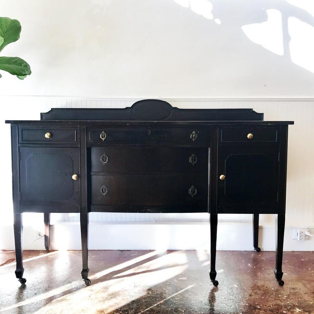 Antique Black Sideboard For Sale - Image 5 of 5