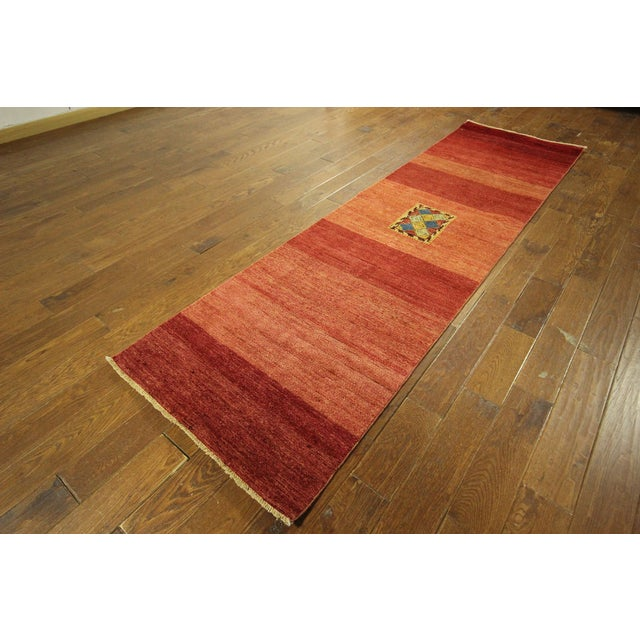 Modern Modern Collection Gabbeh Runner - 2′9″ × 10′ For Sale - Image 3 of 9