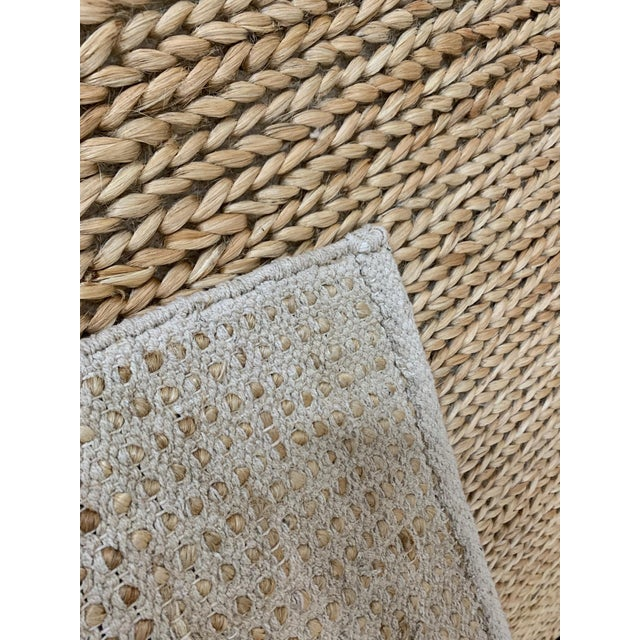 """Boho Chic Hand Woven Jute Rug-5'5"""" X 7'10"""" For Sale - Image 3 of 9"""