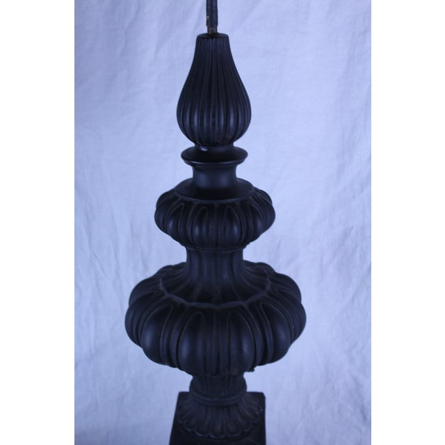Early 20th Century 20th Century Gothic Column Table Lamp For Sale - Image 5 of 6