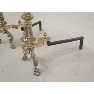 Bronze French Style Large Fireplace Andirons - a Pair Preview