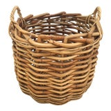 Image of Vintage Wicker Storage Basket For Sale
