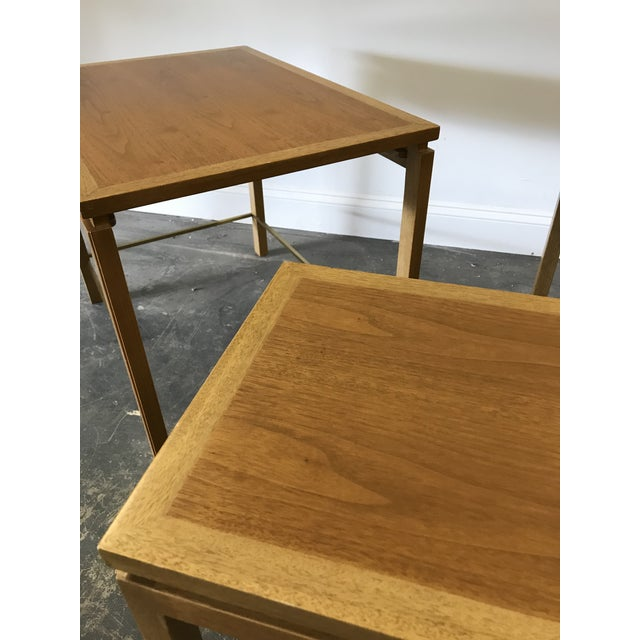 Dunbar Furniture 1950s Edward Wormley for Dunbar Nesting Tables-Set Of 3 For Sale - Image 4 of 9
