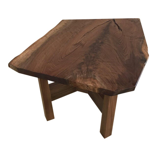 Solid California Walnut Stool For Sale