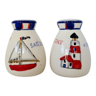 Nautical Salt & Pepper Shakers, a Pair For Sale