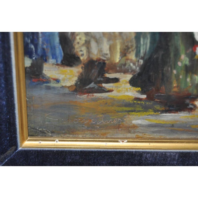 Impressionist European Market Scene Oil Painting - Image 8 of 9