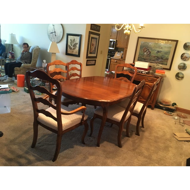 Ethan Allen French Country Dining Set - 7 Pieces For Sale - Image 12 of 12