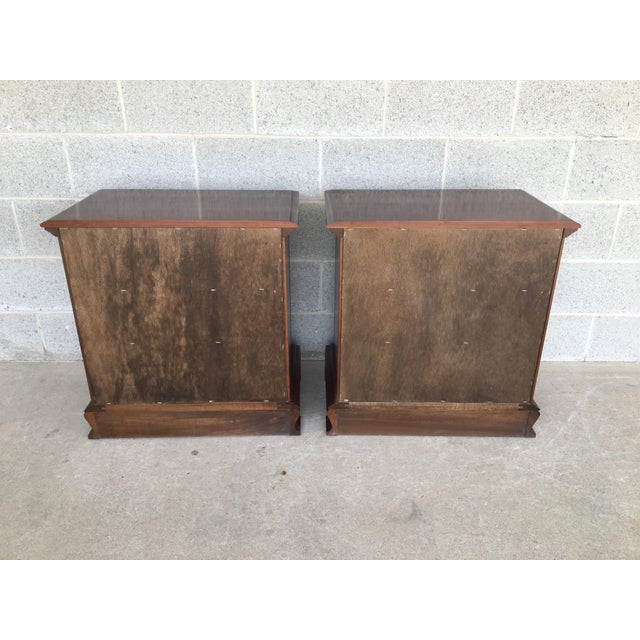 Colonial Furniture Cherry Chippendale Style 3 Drawer Nightstands - a Pair For Sale In Philadelphia - Image 6 of 8
